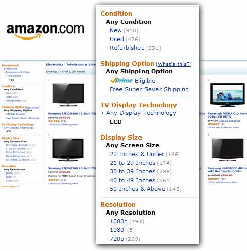 Amazon product select