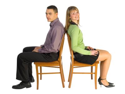 Sitting straight