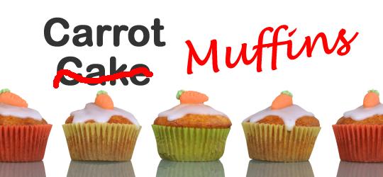 Carrot Cake, er, Muffins
