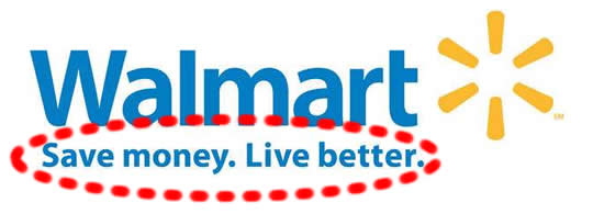 Walmart logo with slogan