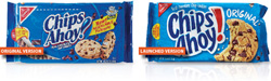 Chips Ahoy packages - old and new