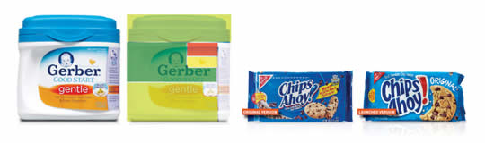 Gerber and Chips Ahoy Packaging