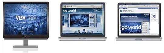 Visa ad in three viewing contexts