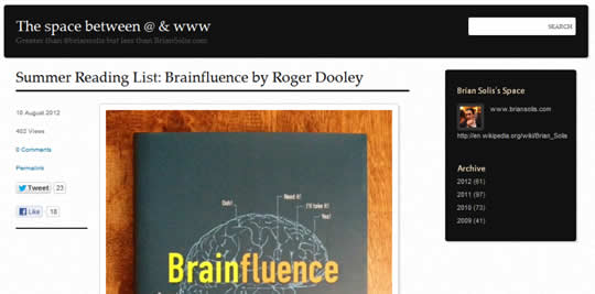 Summer Reading List: Brainfluence by Roger Dooley