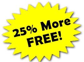 25 percent more free