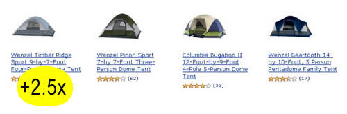 Tent preference: first is best