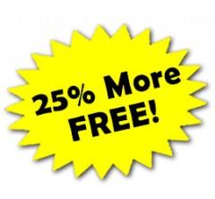 25% More Free