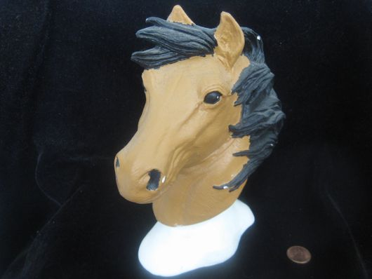 This horse bust is bought for only $.99.