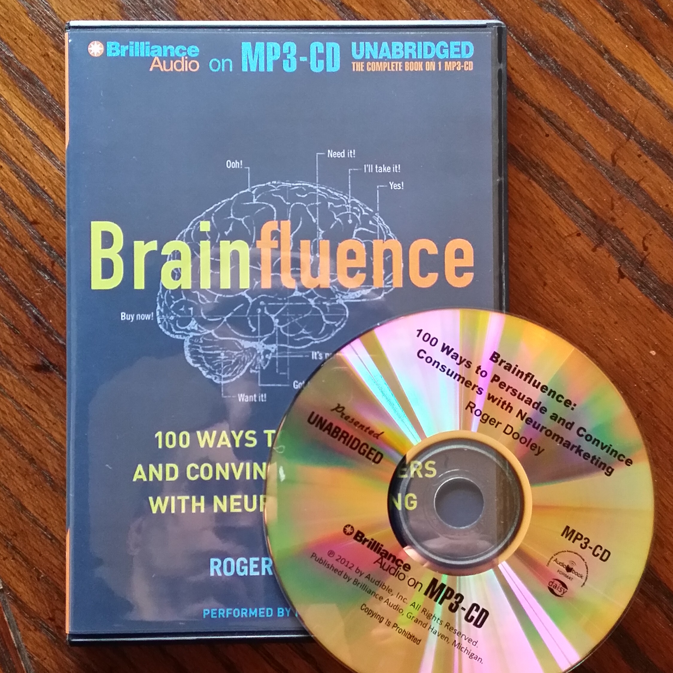 Brainfluence on MP3 CD